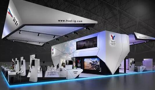 青岛电子元器件有限公司展位设计搭建方案