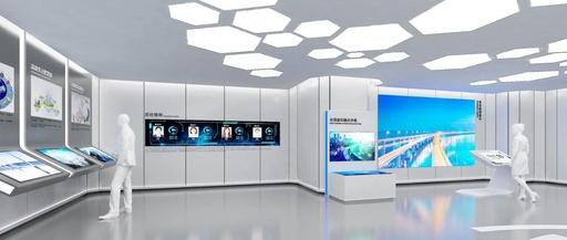 青岛自动化设备有限公司展览展厅设计效果图