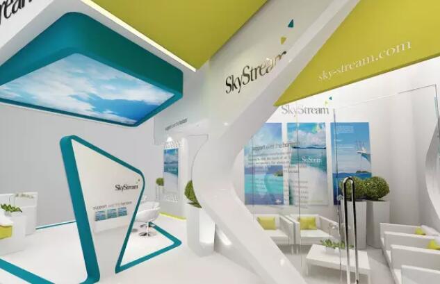 山东潍坊劳保用品企业展览厅设计效果图